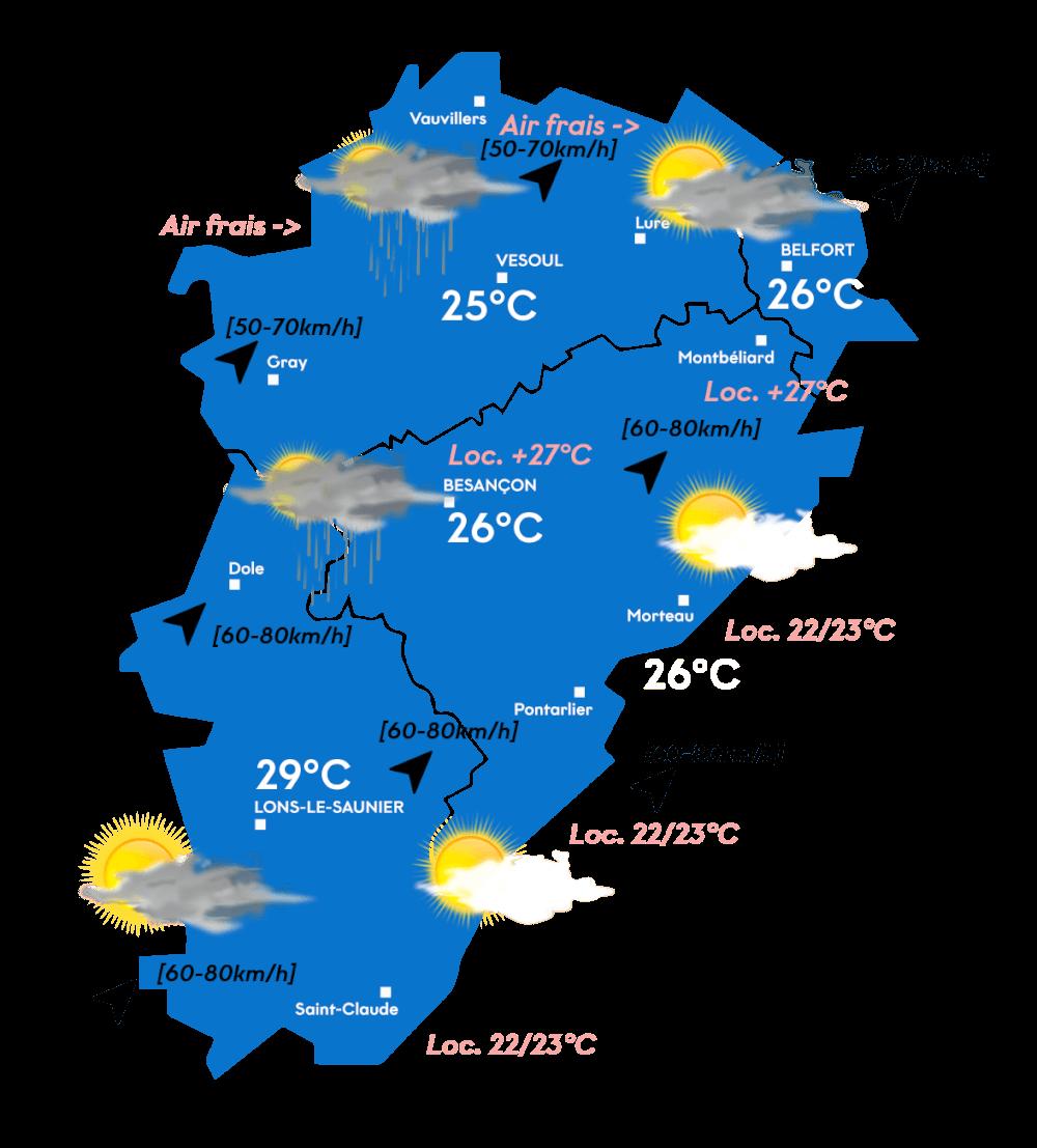 Carte météo après-midi