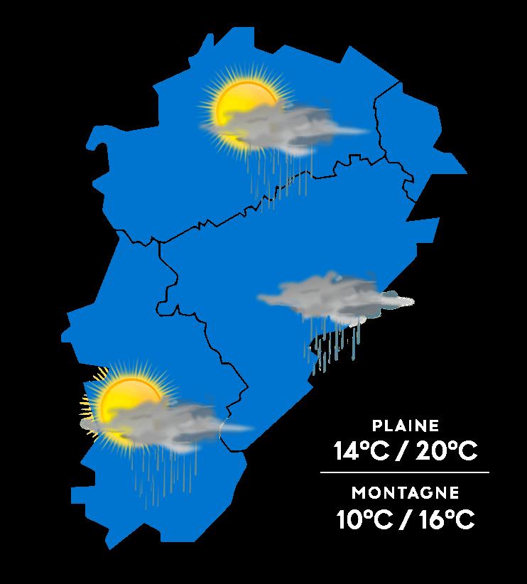 Carte météo à jour + 1