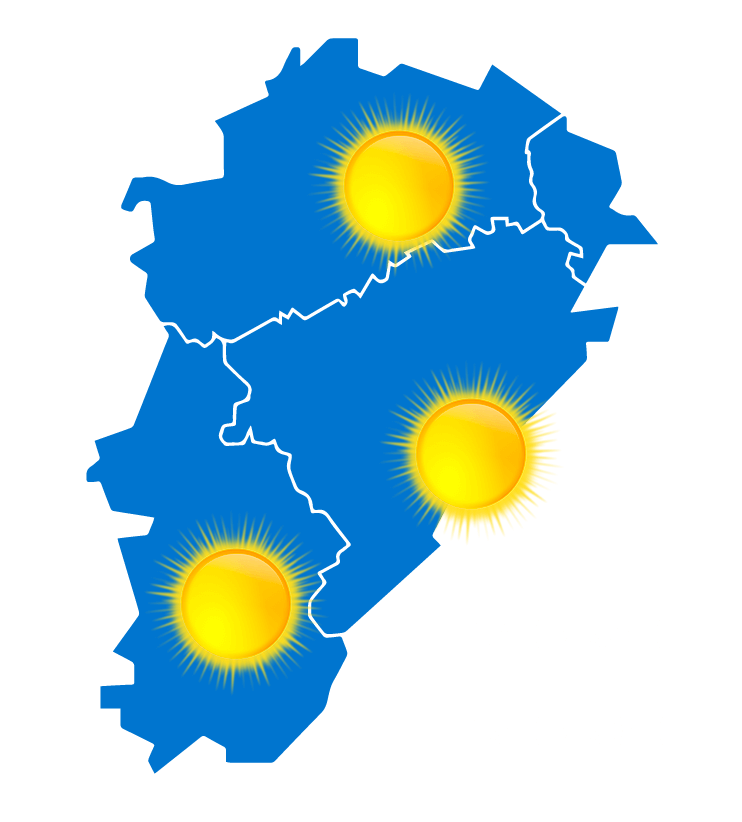 Carte météo à jour + 2