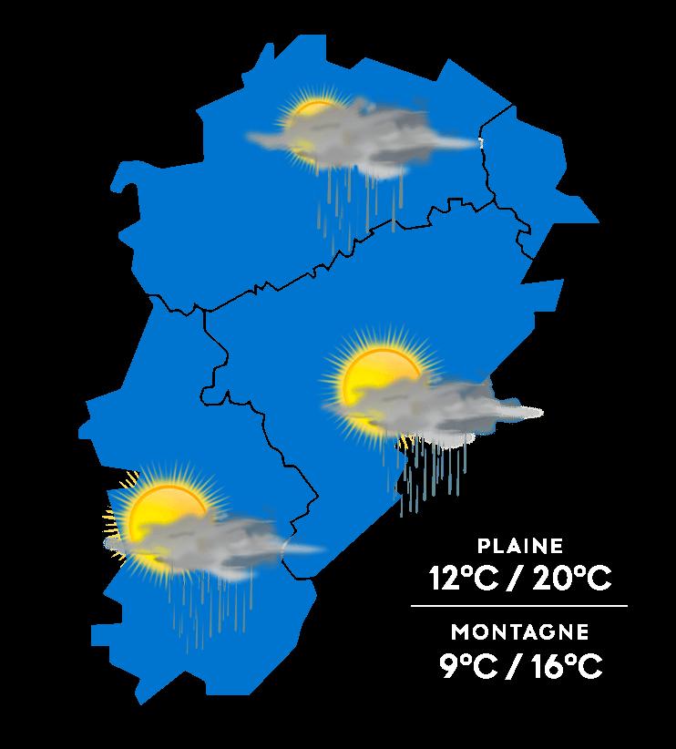 Carte météo à jour + 3
