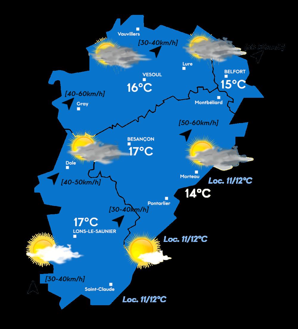 Carte météo du matin